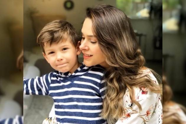 Fernanda Machado e filho - Reprodução/Instagram