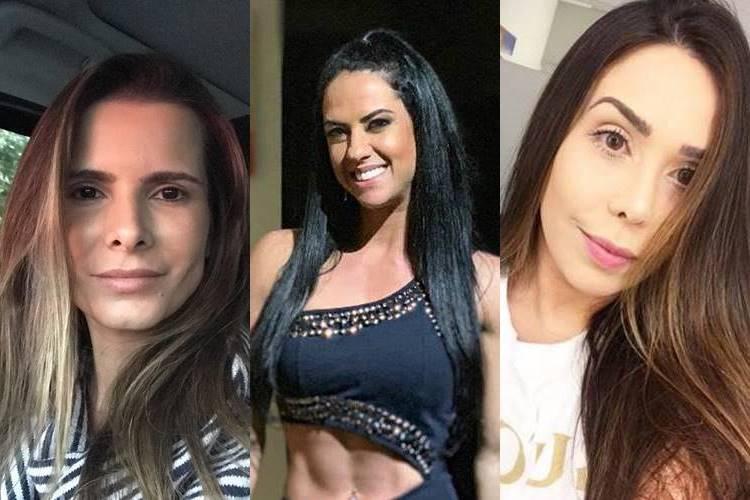 Mulheres de sertanejos exibem looks exuberantes para show