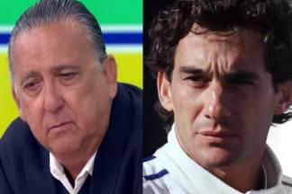 Galvão Bueno e Ayrton Senna - Montagem/Área Vip