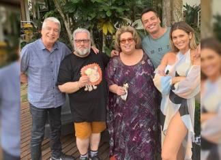 Décio Piccinini, Leão Lobo, Mamma Bruschetta, Leo Dias e Lívia Andrade - Reprodução/Instagram