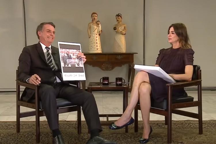 Luciana Gimenez e Jair Bolsonaro/Reprodução RedeTV