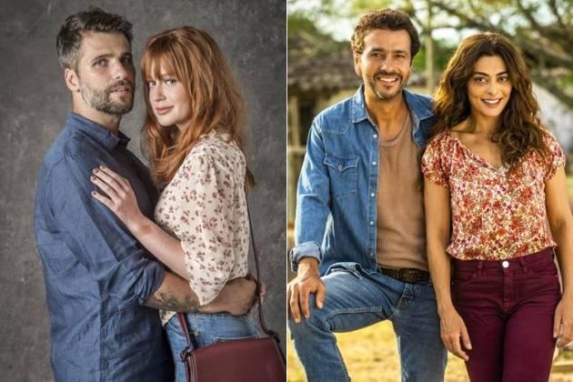Luz e Gabriel - Amadeu e Maria(João Cotta/João Miguel Júnior/Globo)