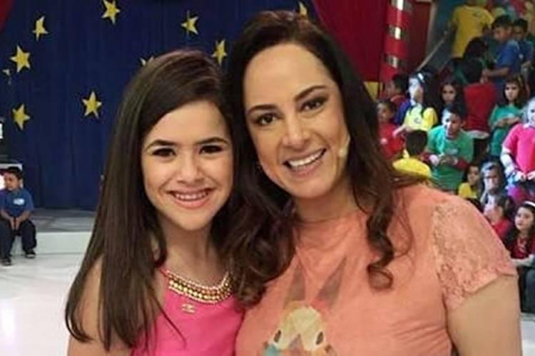"Silvia Abravanel parabeniza Maisa e se declara: ""Minha menina"""