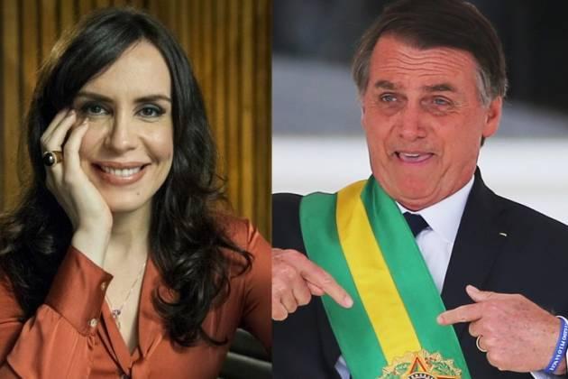 Maria Clara Spinelli e Jair Bolsonaro - Montagem/Área Vip