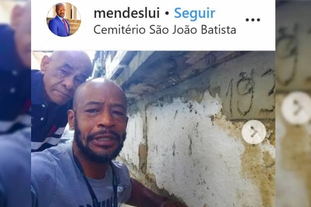 Lui Mendes e o pai- Reprodução/Instagram