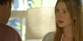 O Sétimo Guardião - Feijão conta descoberta para Luz (Reprodução/TV Globo)
