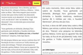 Prêmio Area VIP repercute na mídia - Veja e Caras