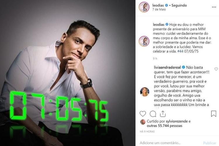Publicação de Leo Dias/Reprodução Instagram