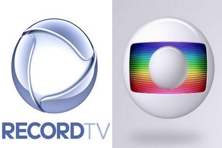 Logo Record e Globo - Reprodução