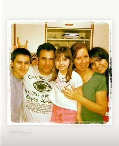 Rafael Miguel com a família