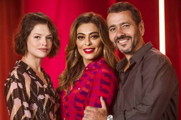 A Dona do Pedaço - Josiane - Maria da Paz - Amadeu (Globo/João Miguel Júnior)