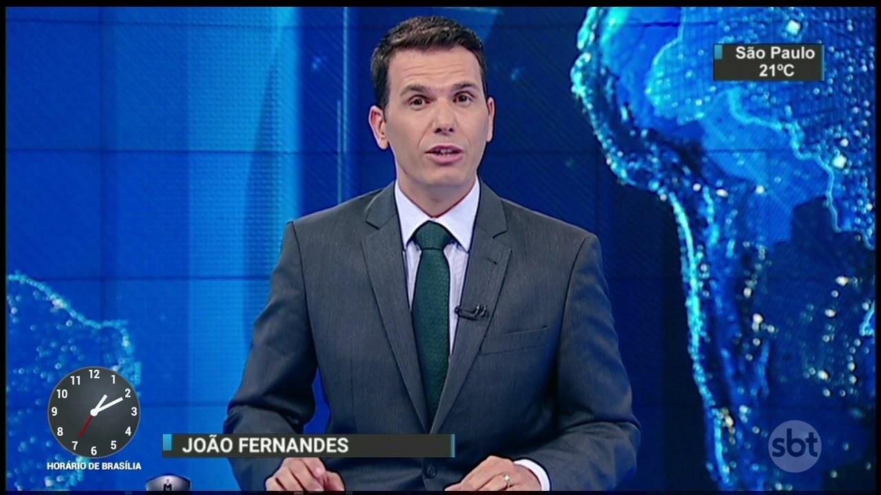 João Fernandes apresentando o SBT Notícias/Reprodução