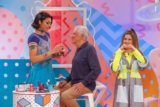 Pabllo Vittar - Carlos Alberto e Maisa (Gabriel Cardoso/SBT)