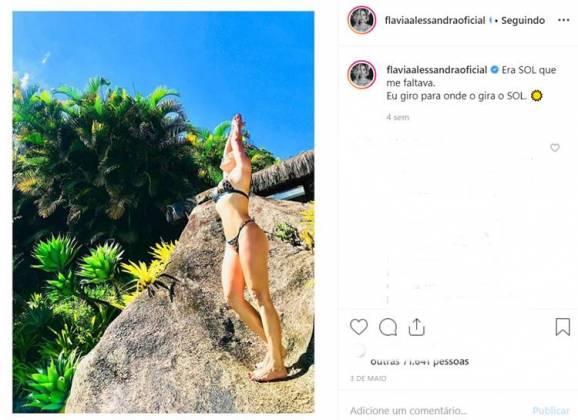 Post - Flavia Alessandra/Instagram