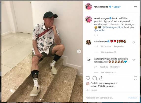 Post - Renato Aragão/Instagram