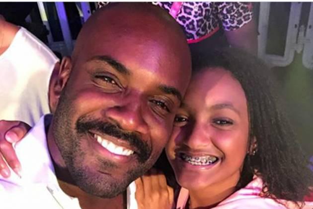 Zulu e a filha/Instagram