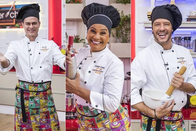 João Vitti, Nando Rodrigues e Solange Couto estão na final do 'Super Chef Celebridades' do 'Mais Você'