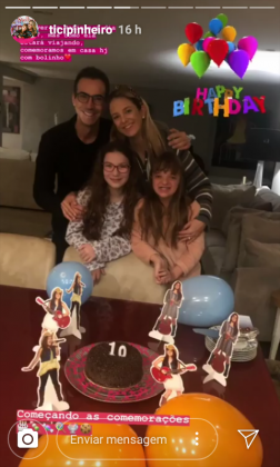 Ticiane Pinheiro e Familia