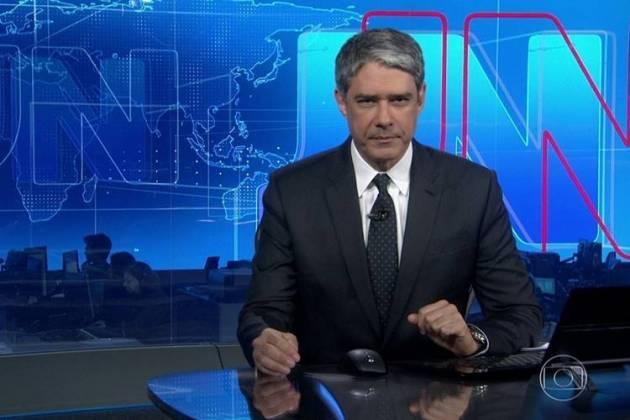 William Bonner no 'Jornal Nacional' - TV Globo/Reprodução