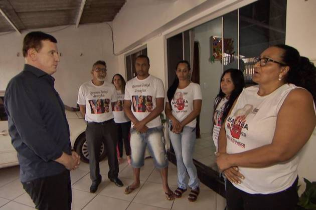 Conexão - Cabrini com a família de Jessyka (Divulgação/SBT)