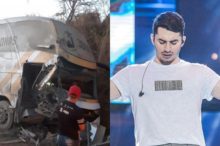 Ônibus do cantor Jonas Esticado se envolve em acidente no Maranhão