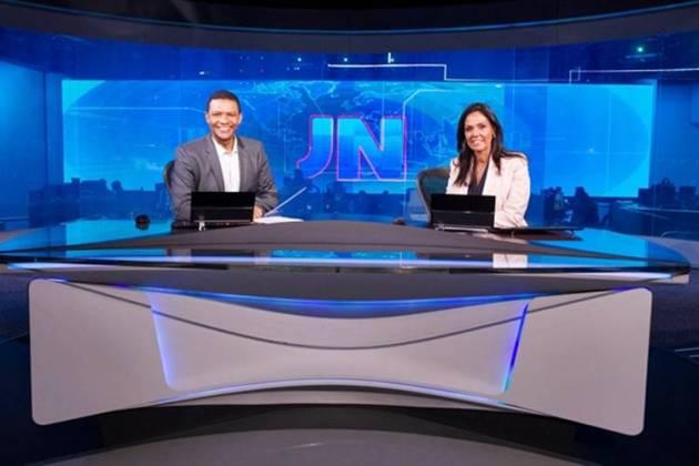 Márcio Bonfim e Cristina Ranzolin na bancada do JN (Globo/ João Cotta)