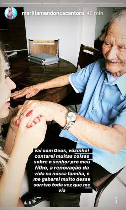 Marilia Mendonça e avô -Instagram