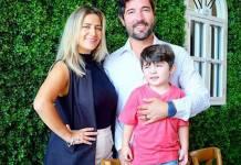 Sandro Pedroso, Jéssica Costa, e Noah instagram