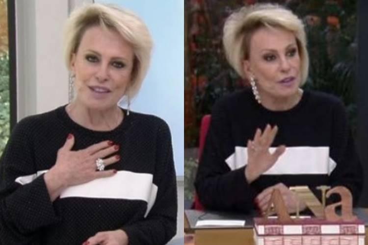 Ana Maria Braga recusa presente de telespectador e causa climão