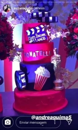 Aniversário Donatella - stories Instagram