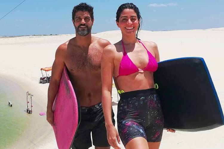Bruno Cabrerizo e Carol Castro viajam juntos