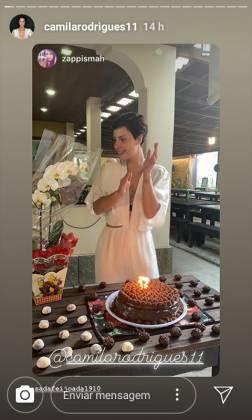 Camila Rodrigues aniversário- Instagram. 2