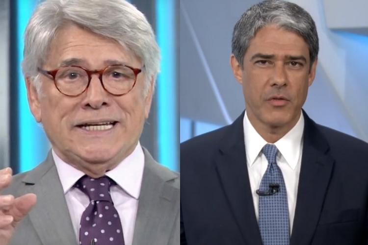 Sérgio Chapelin recusa homenagem de William Bonner e sinaliza intriga com o jornalista