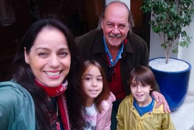 Claudia Mauro, Paulo cesar Grande, Pedro e Carolina- Instagram