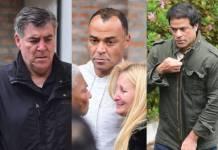 Zetti, Cafu e a mulher, Regina Feliciano e Raí - Fotos: Leo Franco / AgNews