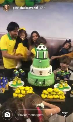 Familia Abravanel festa de aniversário stories