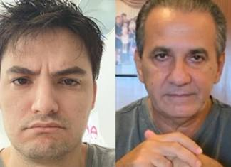 Felipe Neto e Silas Malafaia-fotos isntagram montagem Area Vip