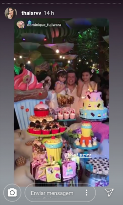 festa de aniversário de Sofia filha de Ferrugem- Instagram