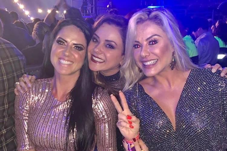 Graciele Lacerda, Márcia Alves e Poliana, mulher de Leonardo, se envolvem em polêmica
