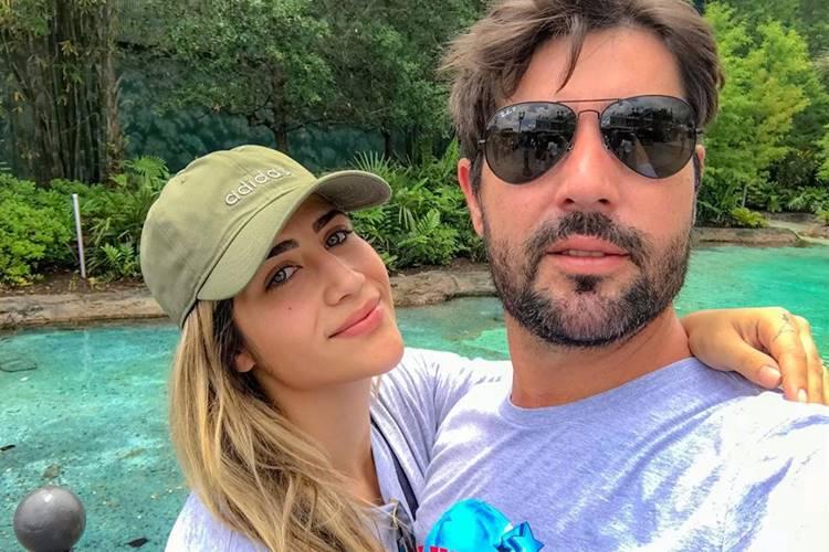 Ao lado de Sandro Pedroso, Jéssica Costa leva a web à loucura ao surgir em show do 'Amigos'
