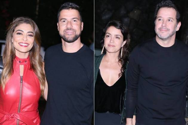 Juliana Paes com o marid - Manuela Dias e Murilo Benicio (Anderson Borde/AgNews)