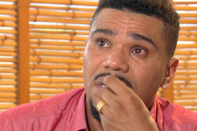 Cantor Naldo Benny se emociona após grande homenagem do ídolo, Chris Brown