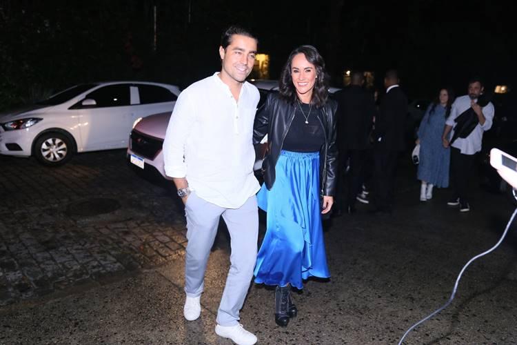 Ricardo Pereira com a mulher (Anderson Borde/AgNews)