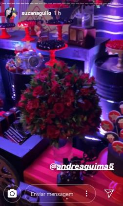 Decoração festa Donatella- Instagram Suzana Gullo