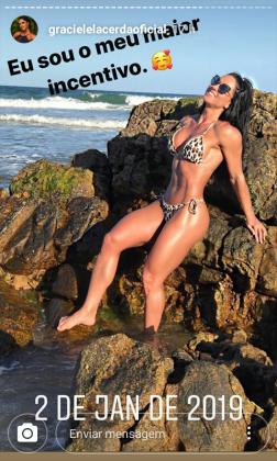 Graciele Lacerda- stories Instagram
