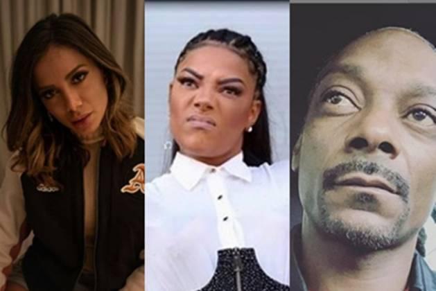 Anitta, Ludmilla Snoop Dogg foto Instagram montagem Area Vip