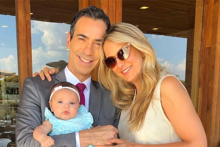 Cesar Tralli faz declaração para Ticiane Pinheiro no 'Dia das Mães'