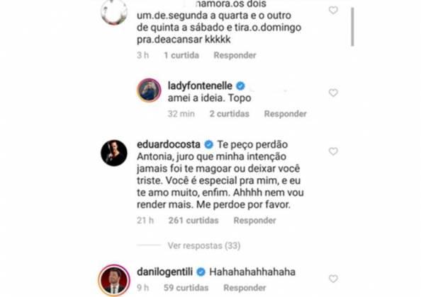 Comentários na publicação de Fontenelle/Instagram
