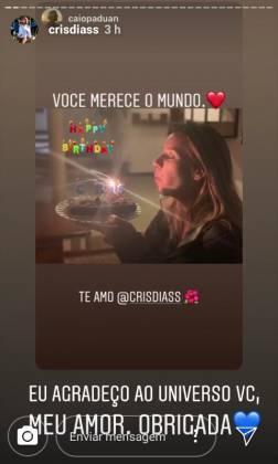 Cris Dias reprodução Instagram