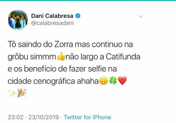 Dani Calabresa reprodução  Twitter